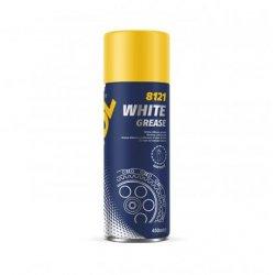 Purškiamas baltas tepalas MANNOL WHITE GREASE  450ml.(Aerozolis)